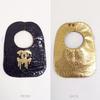 FRONT: Black w/Gold Melting CC's BACK: Gold