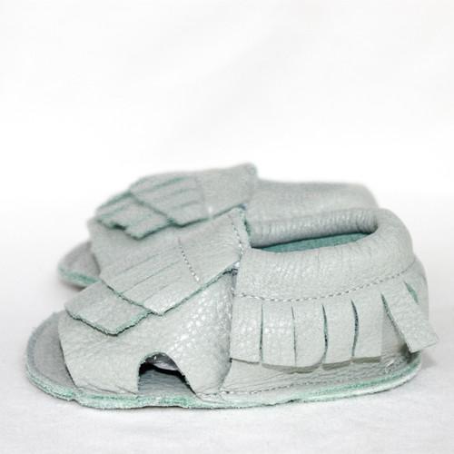 Leather Sandals - Sea Foam