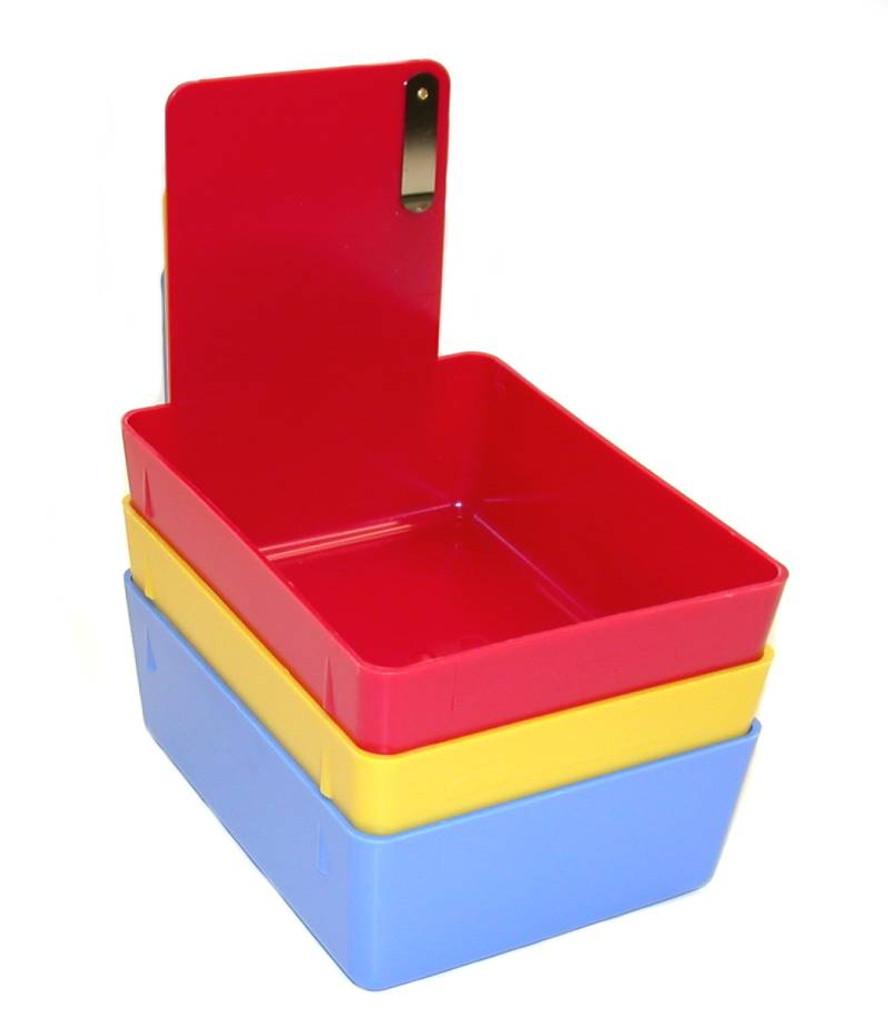 Plastic Model Bins, Red (12 pack)