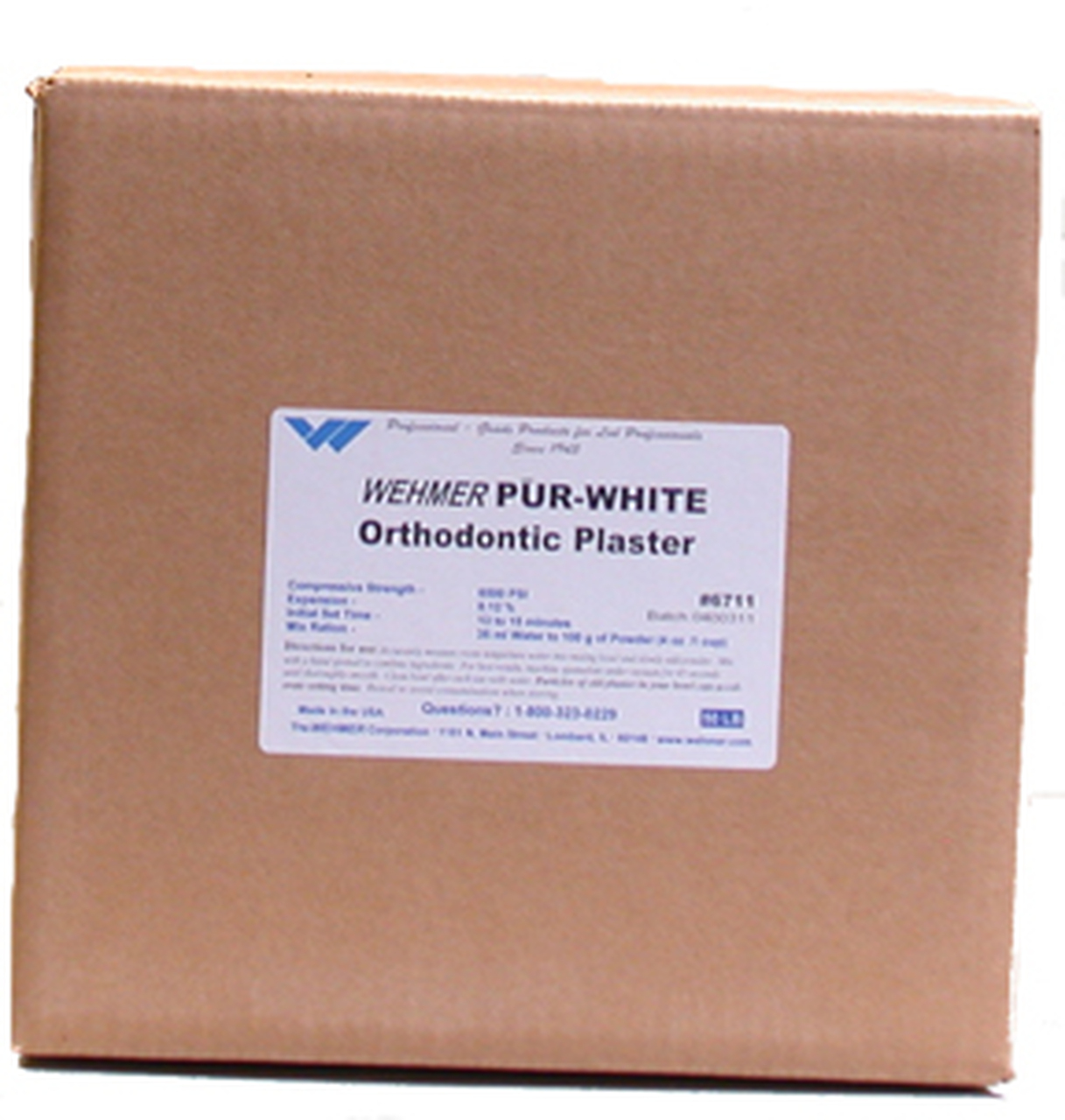 Pur-White Orthodontic Plaster - 50 lbs