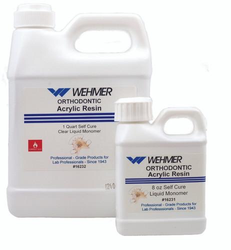 Wehmer Cross-Linked Self Cure Monomer - Clear 8 oz.