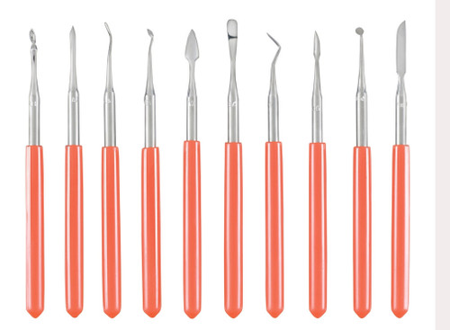 Waxing and Carving Instruments, (10)