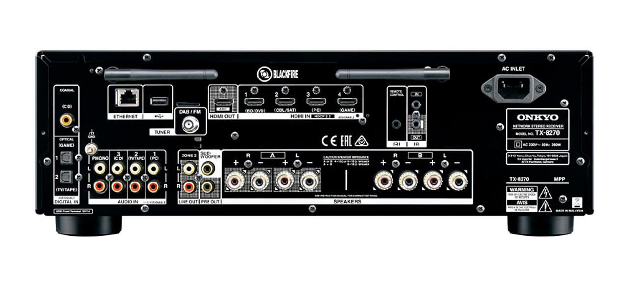 Onkyo TX-8270 Multi-Zone Network Stereo Receiver