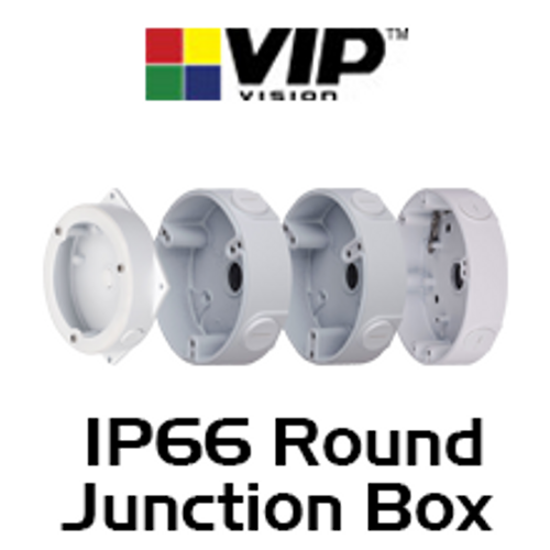 VIP Vision IP66 Round Adapter / Junction Box for Dome Cameras