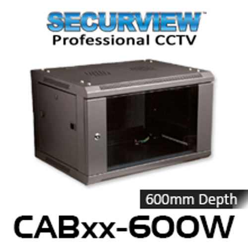 "SecurView 19"" 600mm Deep Wall Mount Cabinet (6, 12, 15RU)"