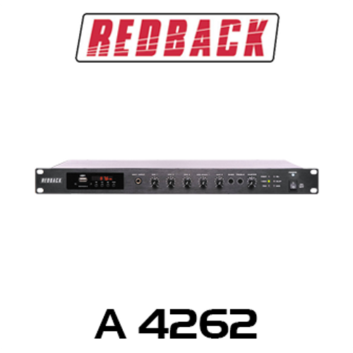 Redback 240W 100V Class H Bluetooth Public Address Mixer Amplifier