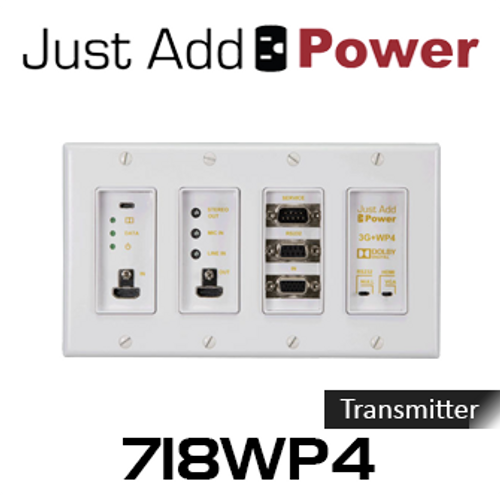 JAP 718WP4 Ultra HD Gigabit 3G+ PoE Wall Plate Transmitter With HDCP2.2
