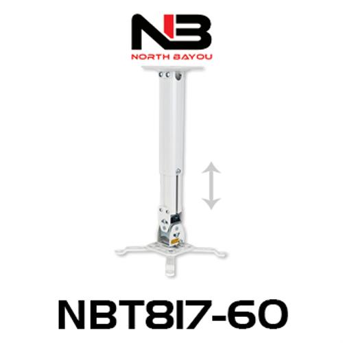 NB NBT817-60 Telescopic Ceiling Projector Mount (390-605mm)