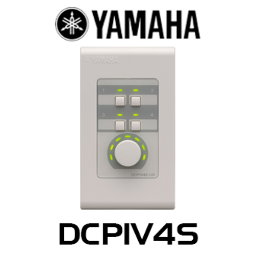 Yamaha DCP1V4S 1 Volume 4 Switch Wall Mount Control Panel