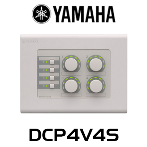 Yamaha DCP4V4S 4 Volume 4 Switch Wall Mount Control Panel