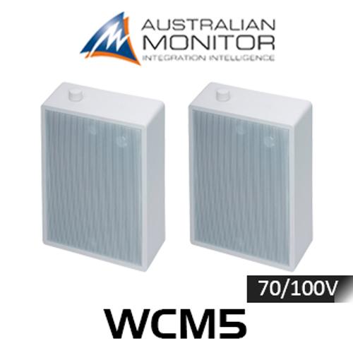 "Australian Monitor WCM5 5"" 70/100V Wall Mount Speakers (Pair)"