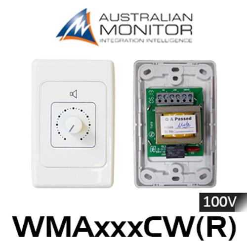 Australian Monitor 10/25/50/100W Speaker Volume Control Wallplate