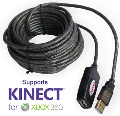 Xbox Kinect Compatible Active USB 2.0 10m Extension Lead