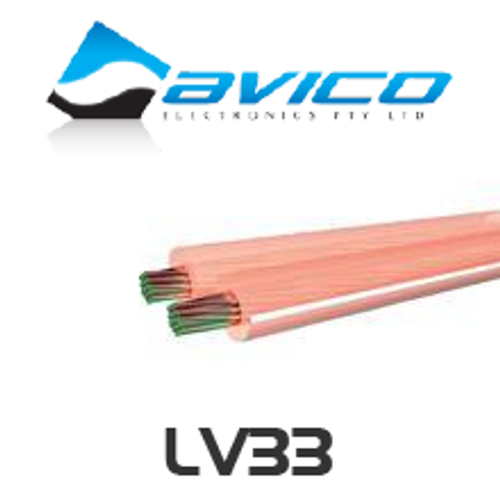 Avico LV33 18AWG Medium Duty Low Loss Speaker Cable 100m Roll