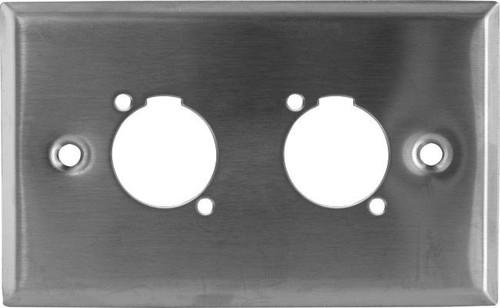 Twin XLR Stainless Steel Wallplate