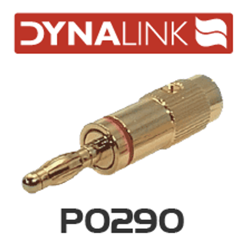 Dynalink Banana Plug Metal Gold - Red