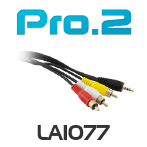 Pro.2 3.5mm 4 contact 3.5mm to Video + Stereo Audio 2m