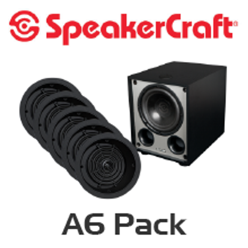 SpeakerCraft Profile A6 LCR 5.1 Channel In-Ceiling Speaker Pack