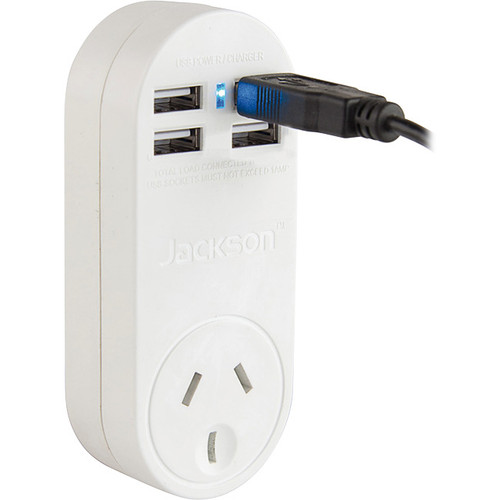 Jackson Power Outlet with 4 USB Charging Outputs