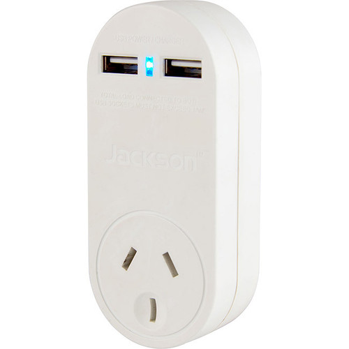 Jackson Power Outlet with 2 USB Charging Outputs