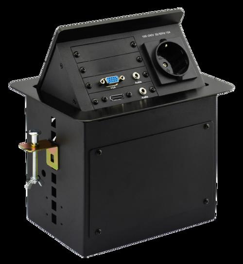 AVGear AVG-TSM2 Pop Up Tabletop Interface incl. 2 Network, HDMI, VGA, Audio & Power