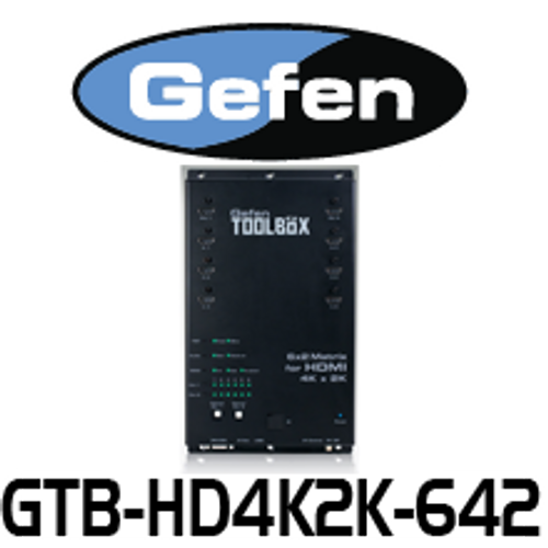 Gefen 6x2 HDMI Matrix with 4K x 2K UltraHD Support and digital Audio Outputs