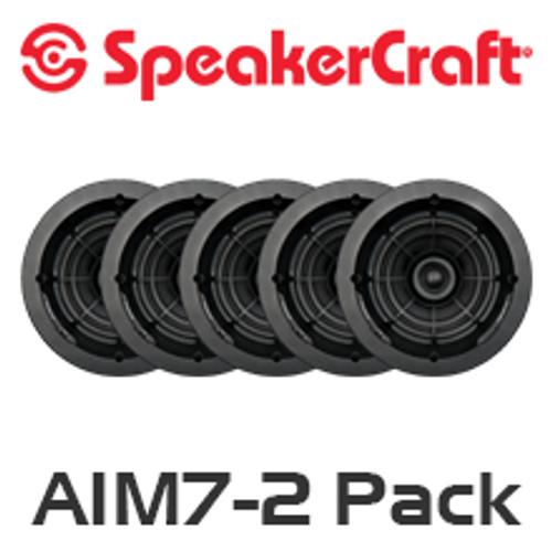"""SpeakerCraft AIM7 Two 7"""" In-Ceiling 5 Speaker Package"""