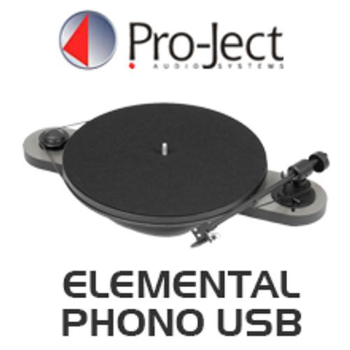 Pro-Ject Elemental Phono USB Turntable inc. Ortofon OM 5E