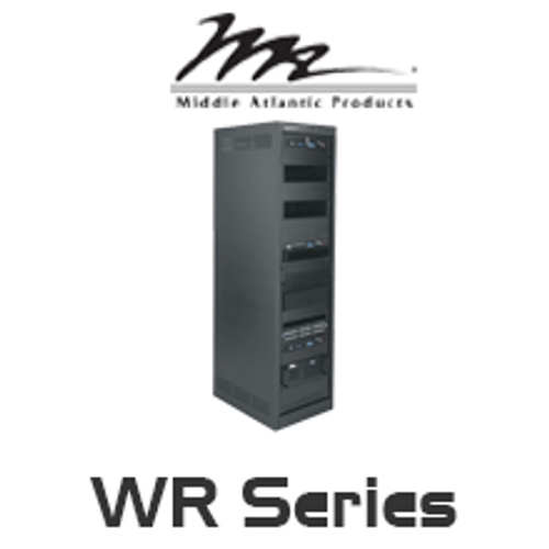 "Middle Atlantic WR Series 32""/42"" Deep Roll-Out Rotating System Rack with 24RU / 37RU / 44RU"