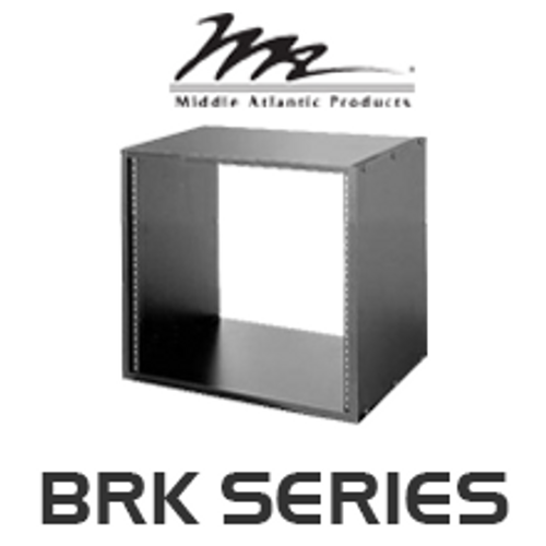 "Middle Atlantic BRK Series 18"" Deep Black Wood Grain Laminate Rack"