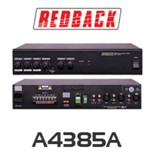 Redback A4385A Phase 4 PA Amplifier 250W 4 Input