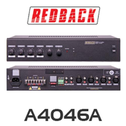 Redback A4046A 100V 4 Input PA Amplifier
