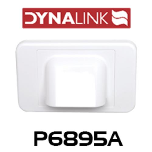 Dynalink P6895A White Shovel Nose Wallplate