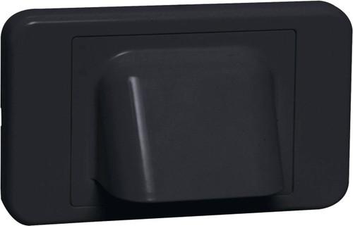 Dynalink Black Shovelnose Wallplate