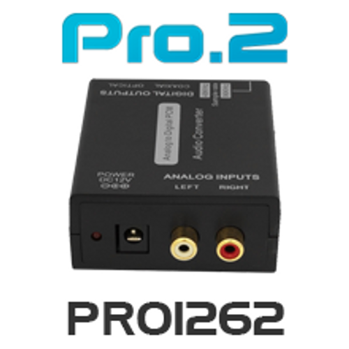 Pro.2 PRO1262 Analog Stereo Audio to Digital