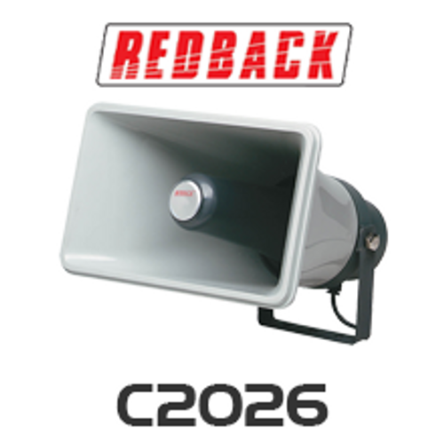 Redback 25W 8 Ohm Weather Proof IP65 Plastic Horn Speaker