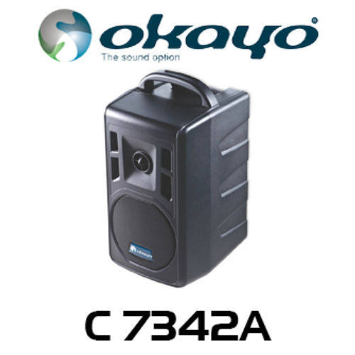 Okayo 96 Ch Compact 40W Portable Bluetooth UHF PA System (640-664MHz)