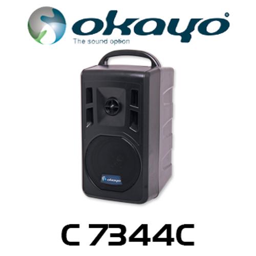 Okayo 96 Ch Compact 40W Portable USB MP3 Bluetooth UHF PA System (520-544MHz)