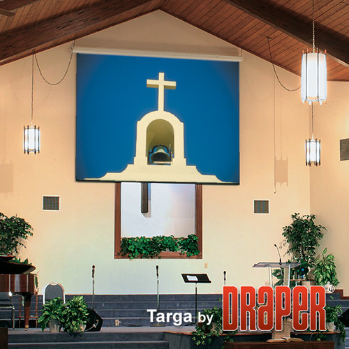 Draper Targa Motorised Incl. Low Voltage Control Switch Projection Screen (Matt White)