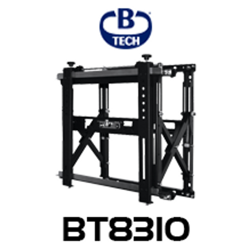 B-Tech BT8310 Professional Video Wall Mount with Quick Lock Push System - Up to 50kg
