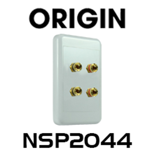 Origin NSP2044 4-Way 4mm Pins Speaker Wallplate