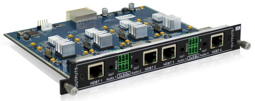 AVGear MC-4O-BT 4 HDBaseT Output Card Supports 4K with De-Embedded Audio