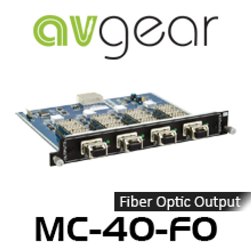 AVGear MC-4O-FO 4 Optical Fiber Output Card Supports 4K