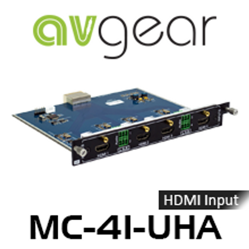 AVGear MC-4I-UHA 4 HDMI Input Card Supports 4K with Embedded Audio
