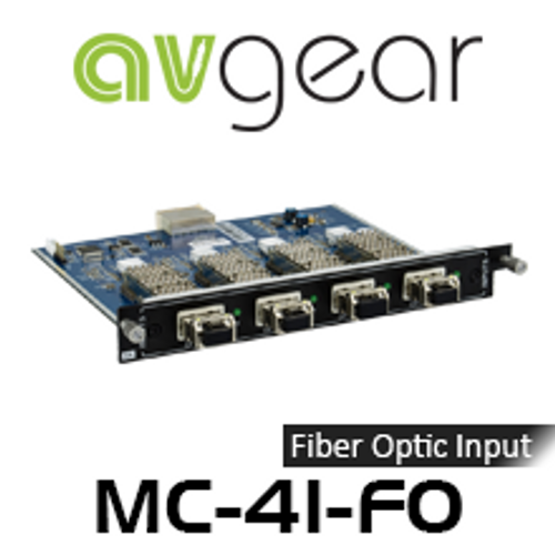 AVGear MC-4I-FO 4 Optical Fiber Input Card Supports 4K