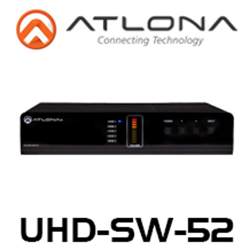 Atlona 4K UHD 5-Input HDMI Switcher with Mirrored HDMI Outputs