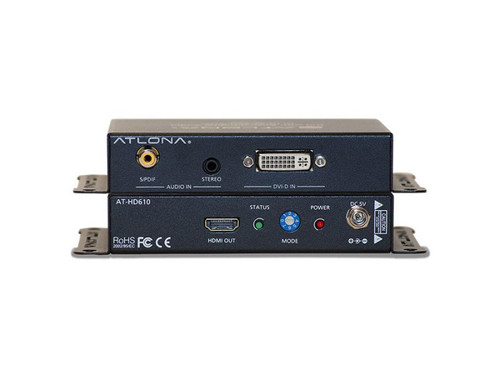 Atlona DVI with Analog / Digital Audio to HDMI Converter and Embedder