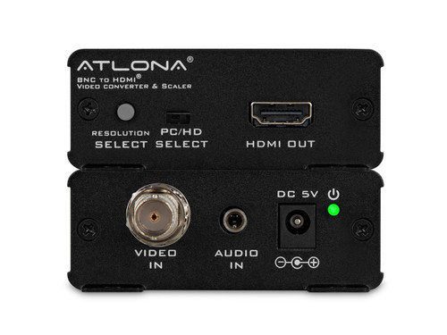 Atlona Composite Video (BNC) and Stereo Audio to HDMI Video Format Converter and Scaler