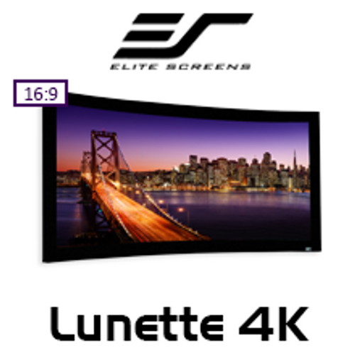 Elite Screens Lunette Curved Fixed Frame 16:9 4K with Acoustically Transparent Material