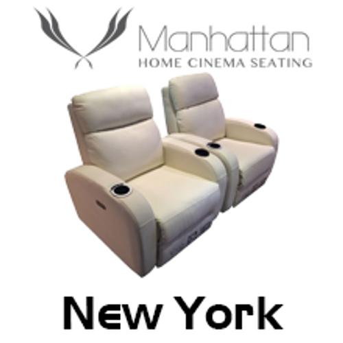 Manhattan New York Leather / Suede Finish Cinema Seating